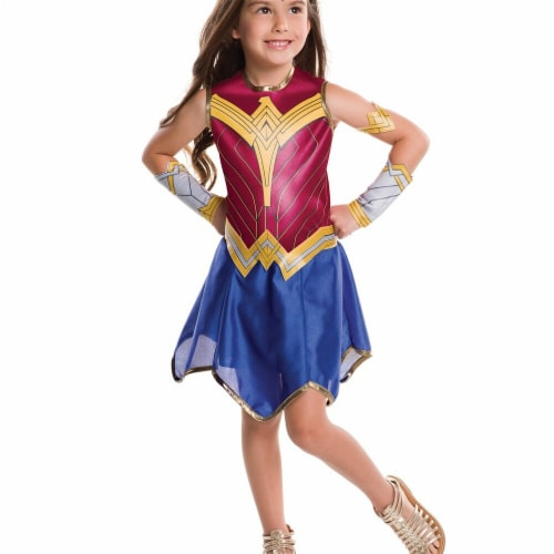 Rubies 271112 Dawn of Justice Wonder Woman Child Costume - Medium Perspective: front