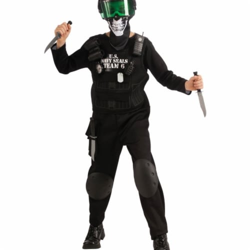 BuySeasons 286764 Kids Black Team 6 Costume, Large Perspective: front
