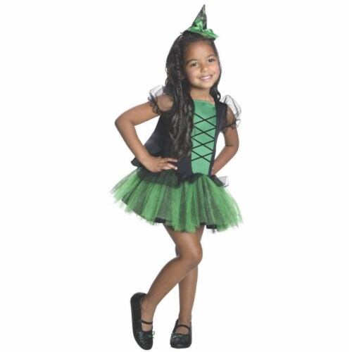 Rubies 219295 Wizard of Oz Wicked Witch of the West Kids Tutu Costume - Small 4-6 Perspective: front