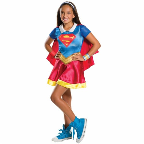 Rubies 271395 DC Superhero & Supergirl Child Costume - Large Perspective: front