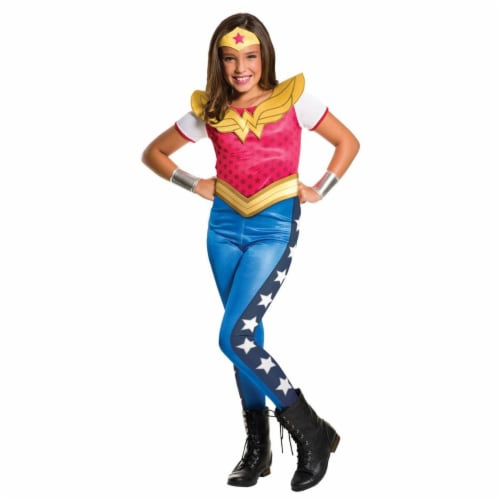 Rubies 278834 Halloween Kids Wonder Woman Costume - Small Perspective: front