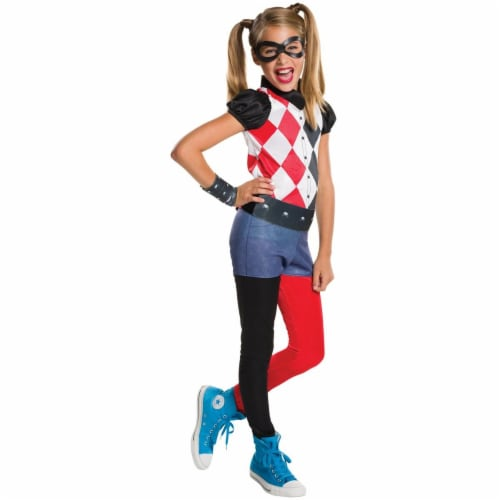 Rubies 273770 DC Superhero Girls Harley Quinn Child Costume - Medium Perspective: front