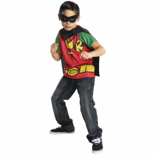 Rubies 279896 Halloween Kids Robin Costume Top - Small Perspective: front