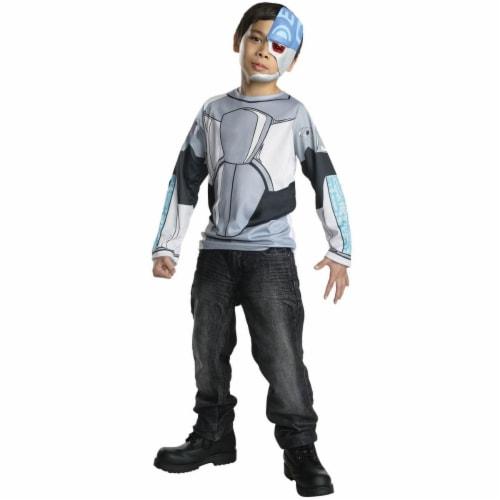 Rubies 279902 Halloween Kids Teen Titans Cyborg Costume Top - Medium Perspective: front