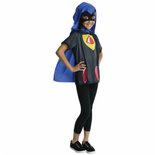 Rubies 279905 Halloween Kids Teen Titans Raven Costume Top - Medium Perspective: front