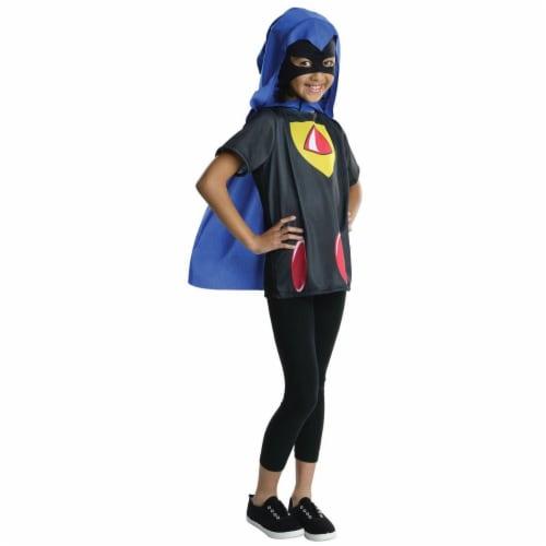 Rubies 279904 Halloween Kids Teen Titans Raven Costume Top - Large Perspective: front