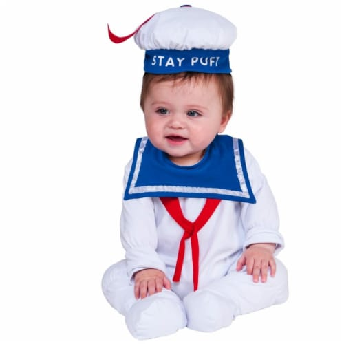 Rubies Costume 271367 Stay Puft Newborn Costume, 0-6 Months Perspective: front