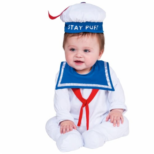 Rubies 271368 Stay Puft Newborn Costume - 6-12 Month Perspective: front