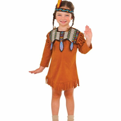 Rubies 278838 Halloween Girls Indian Maiden Costume - Extra Small Perspective: front