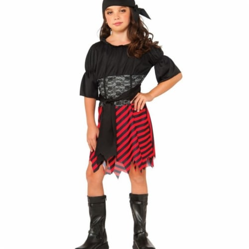 Rubies 406394 Girls Pirate Costume, Large Perspective: front