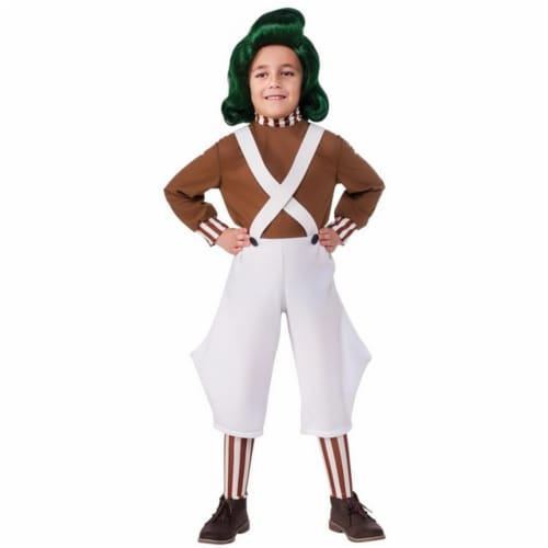 Rubies Costumes 245355 Willy Wonka & The Chocolate Factory Oompa Loompa Classic Child Costume Perspective: front