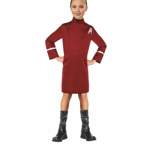 Rubies 284113 Halloween Star Trek Girls Uhura Costume - Medium Perspective: front