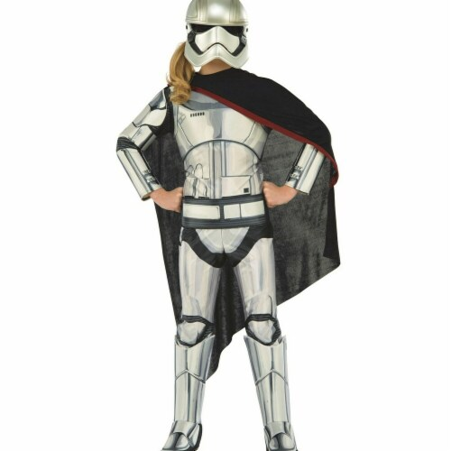 Rubies 284118 Halloween Star Wars Girls Deluxe Captain Phasma Costume - Small Perspective: front