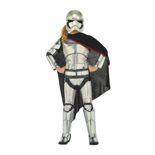 Rubies 284119 Halloween Star Wars Girls Deluxe Captain Phasma Costume - Medium Perspective: front