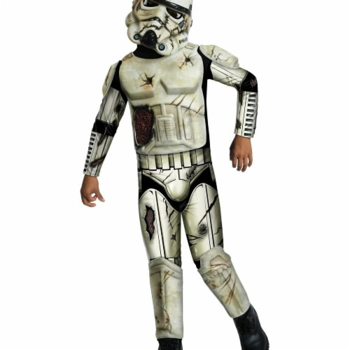 Rubies 284220 Halloween Star Wars Boys Death Trooper Costume - Medium Perspective: front