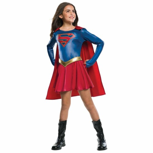 Rubie's RU630076LG Kids Supergirl TV Show Costume Dress - Large Perspective: front