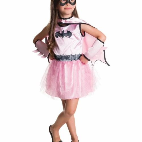 Rubies 274972 Halloween Batgirl Dress & Cape Set, Assorted Color - 3T-4T Perspective: front