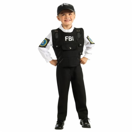 Rubies 279912 Halloween Kids FBI Agent Costume - Small Perspective: front