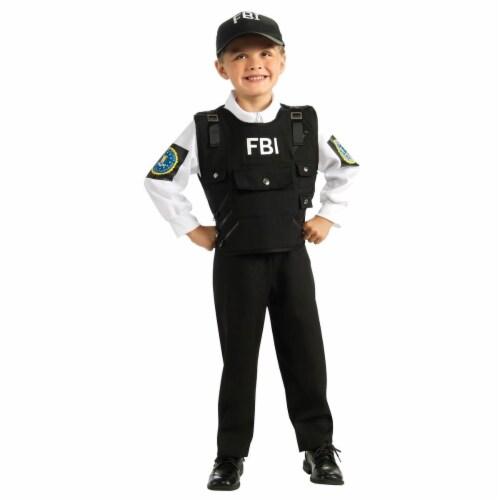 Rubies 279911 Halloween Kids FBI Agent Costume - Medium Perspective: front