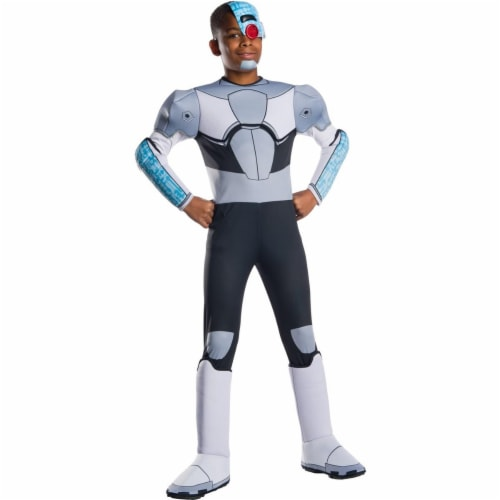 Rubies 279462 Halloween Teen Titan Go Movie Boys Deluxe Cyborg Costume - Small Perspective: front