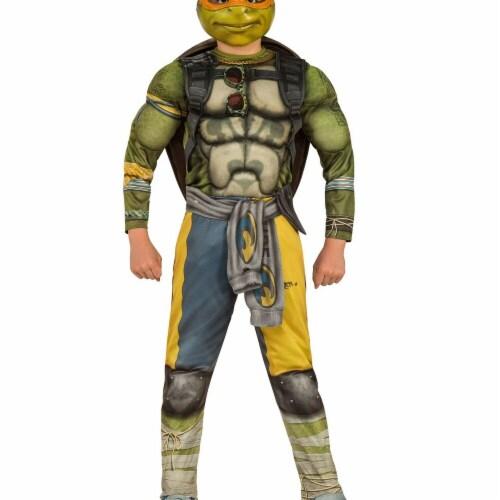 Rubies 274978 Halloween TMNT Boys Deluxe Moive Michelangelo, Assorted Color - Medium Perspective: front