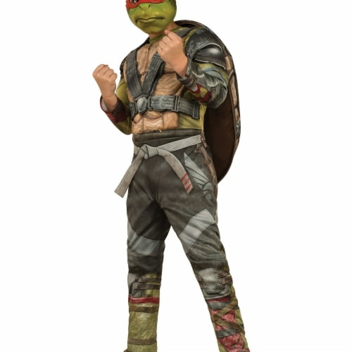 Rubies 274984 Halloween TMNT Boys Super Deluxe Raphael, Assorted Color - Large Perspective: front
