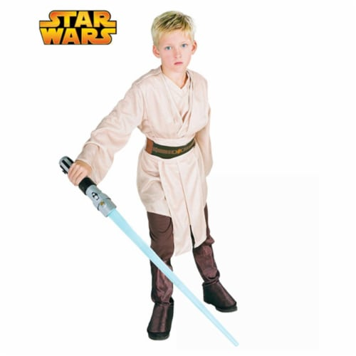 Rubies Costume Co RU882016-M Deluxe Jedi Child Size Medium Perspective: front