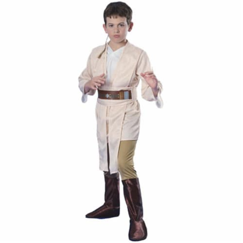 Rubies Costume Co 18790 Star Wars Obi-Wan Deluxe Child Costume Size Small- Boys 4-6 Perspective: front