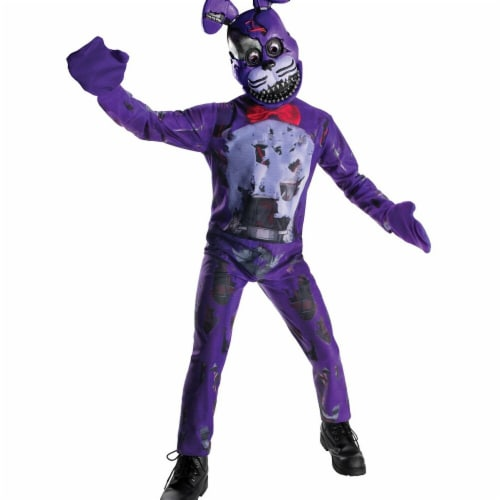Rubies 272171 Five Nights At Freddys Nightmare Bonnie Child Costume - Large Perspective: front