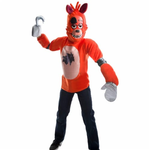 Rubies 273986 Five Nights At Freddys Foxy Deluxe Child Costume - Medium Perspective: front