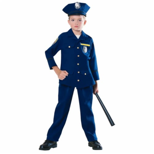 BuySeasons 286778 Kids Police Officer Costume, Medium Perspective: front