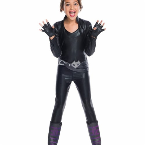 Rubies 272684 Catwoman Deluxe Child Costume - Large Perspective: front