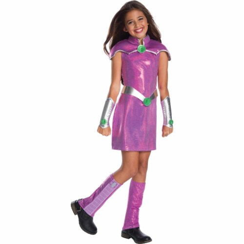 Rubies 272603 Starfire Deluxe Child Costume - Large Perspective: front