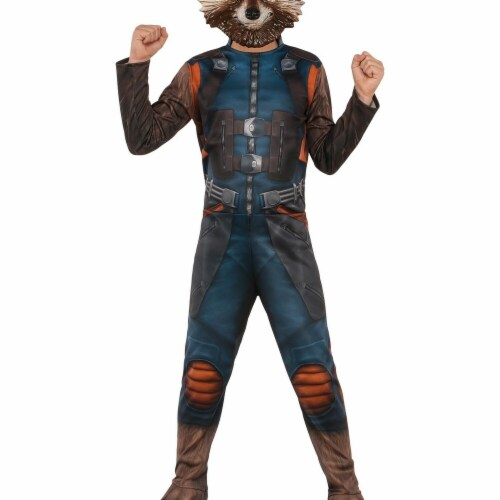 Rubies 274008 Guardians of The Galaxy Rocket Raccoon Child Costume - Small Perspective: front