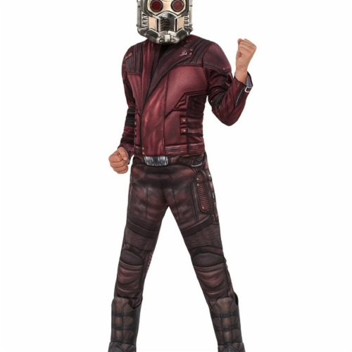 Rubies 248778 Guardians of The Galaxy Volume 2 - Star-Lord Deluxe Childrens Costume, Red - Sm Perspective: front