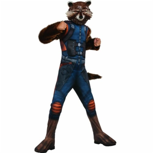 Rubies 248776 Guardians of the Galaxy Volume 2 Rocket Deluxe Childrens Costume, Medium Perspective: front