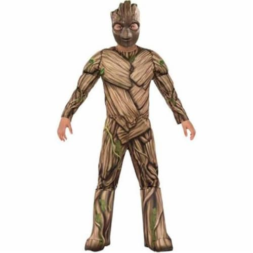 Rubies 248773 Guardians of the Galaxy Volume 2 Groot Deluxe Childrens Costume, Medium Perspective: front