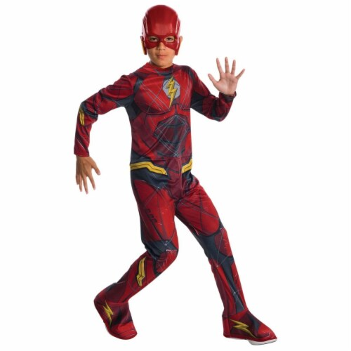 Rubies 278844 Halloween Kids Justice League Flash Costume - Small Perspective: front
