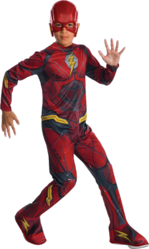 Rubies Children's Medium DC Comics Justice League The Flash Costume - Red Perspective: front