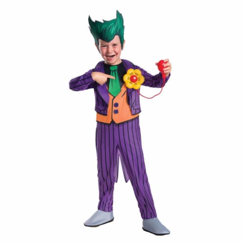Rubies 249132 DC Comics - The Joker Deluxe Child Costume - Small Perspective: front