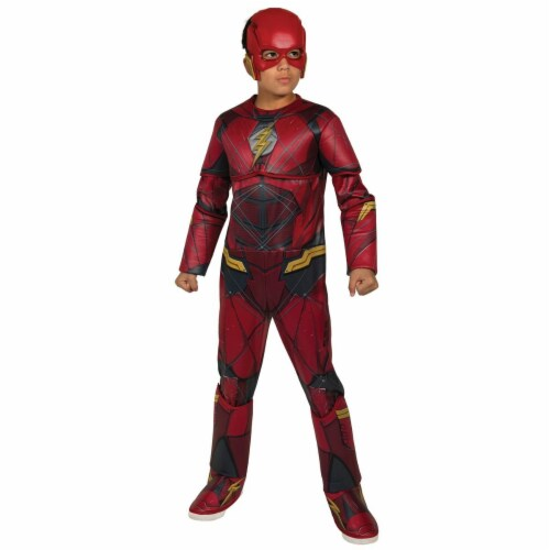 Rubies 272305 Flash Deluxe Child Costume - Medium Perspective: front
