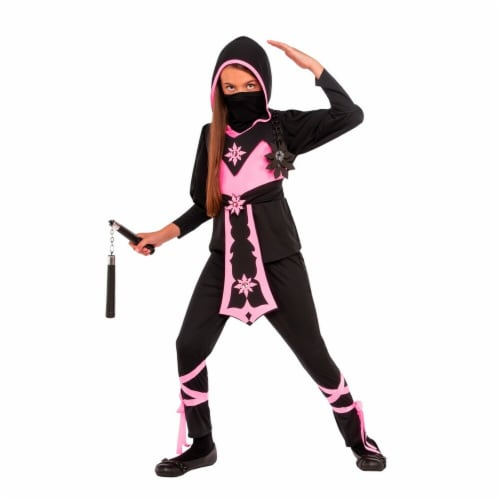 Rubies 274067 Pink Crystal Ninja Child Costume - Medium Perspective: front