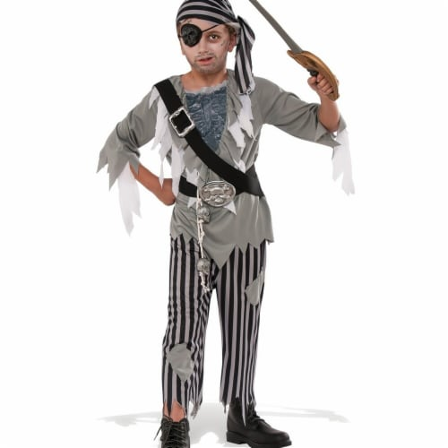 Rubies 274058 Ghostly Pirate Boys Child Costume - Medium Perspective: front