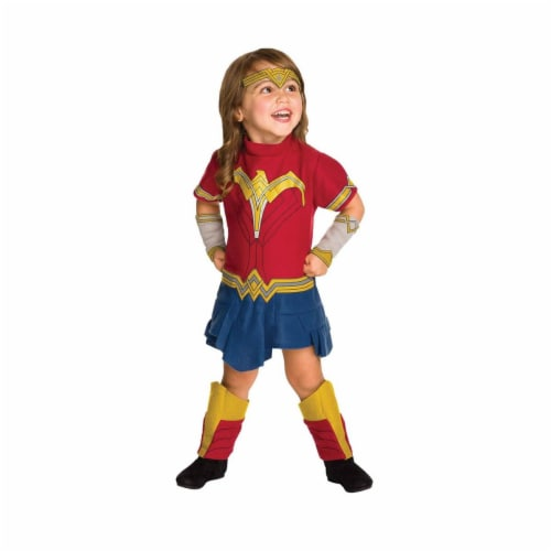 Rubies 278635 Halloween Toddler Wonder Woman Romper Perspective: front