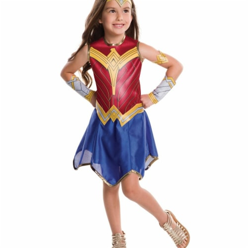 Rubies 274631 Justice League Girls Wonder Woman Costume - Medium Perspective: front