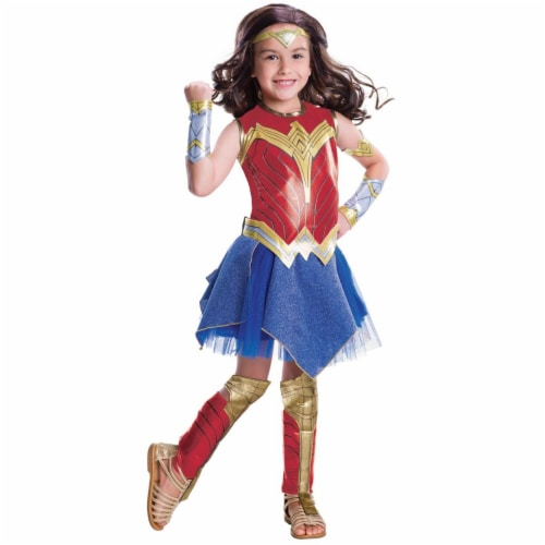 Rubies 249208 Justice League Movie - Wonder Woman Deluxe Child Costume - Large Perspective: front