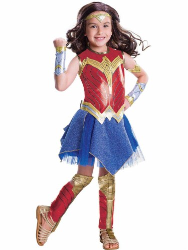 Seasons Children's Size Large Wonder Woman Deluxe Costume Perspective: front