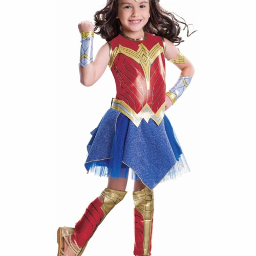 Morris Costumes RU640067SM Child Wonder Woman Deluxe, Small Perspective: front