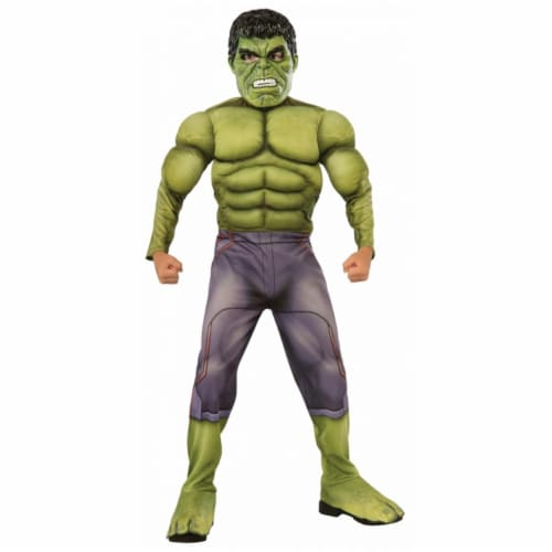 Morris RU640098LG Kids Deluxe Muscle Chest Hulk Costume, Large Perspective: front