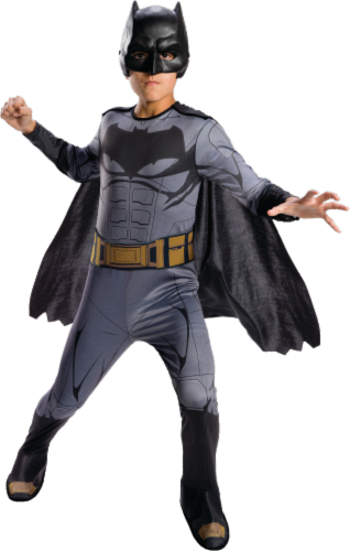 Rubies Children's Small DC Comics Justice League Batman Costume - Gray Perspective: front